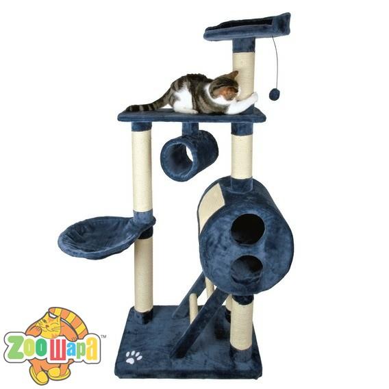 Trixie домик для кошки mijas 176 см синий