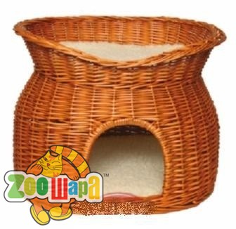 Trixie лежак домик для кошек плетеный