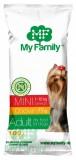 MY FAMILY Mini Adult Сухой корм с Курицей для собак мелких пород 10шт по 100г
