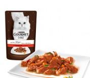 Gourmet A la Carte Шматочки з яловичиною в підл. Конс/кот 85г