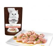 Gourmet A la Carte Шматочки з лососем в підл. Конс/кот 85г