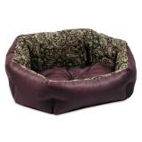 Природа Лежак КОКОС 1 для собак орнамент-бордо (48*38*18)