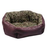 Природа Лежак КОКОС 2 для собак орнамент-бордо (54*44*20)