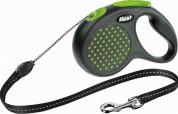 Flexi Рулетка для собак DESIGN M 5м/20кг  (трос) Цвет: зеленый горошек