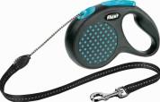 Flexi Рулетка для собак DESIGN M 5м/20кг (трос) Цвет: синий горошек