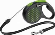 Flexi Рулетка для собак DESIGN S 5м/ 12кг (трос) Цвет: зеленый горошек