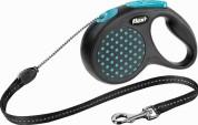 Flexi Рулетка для собак DESIGN S 5м/12кг (трос) Цвет: синий горошек