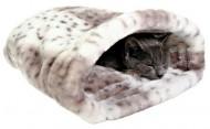"Trixie Лежак-карман для кошек ""Leika"" (25×27×45 см) бежевый с белым"