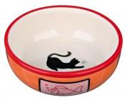 Trixie Миска керам. д/кот. с кошкой и рыбкой 0,35л/12,5см