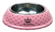 "Trixie Миска ""Cat Princess"" меламин+металл розовая 0,6мл/20см"
