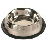 Trixie миска для кошек (металл) на резине с чеканкой 200 мл Ø 11 см
