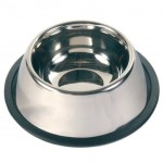 Trixie миска для собаки спаниель (металл) на резине 0,9л Ø  15 cм