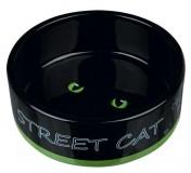 "Trixie Миска керам. д/кот. ""Street Cat"" 0,3л/12см"