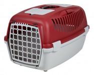 Переноска для собак Capri 3 (размер S: 40×38×61 см, до 12 кг) красный / светло-серый