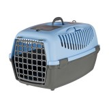 Trixie Переноска для собак Capri 3 (размер S: 40×38×61 см, до 12 кг) голубой / темно-серый