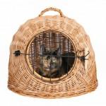 Trixie переноска плетеная для кошек 45 см