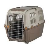 """Переноска для собак """"Skudo 6"""" (размер M-L - 63×70×92, до 40 кг) коричневый / песочный"""