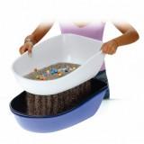 """Trixie туалет для кота """"Berto"""" (рама+сетка) 39x22x59, голубой"""