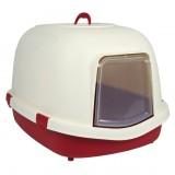 """Trixie туалет - домик для кошки """"Primo"""" 56х47х71 см, крас/крем"""