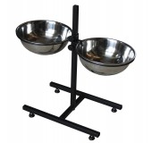 подставка с мисками для кормления собак 3 л