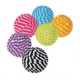 Trixie Мяч в нейлоне (пластик) 4,5см, разноцветный