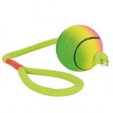 мяч на канате (резина) неон,6 см/30 см