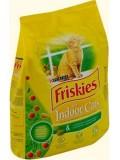 Friskies Сухой корм для взрослых кошек Indoor с курицей и овощами и добавками садовой травы 10 кг