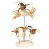 Trixie Мячи с перьями на пружинах, 15х30 см