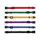 Trixie Набор ошейников для щенков (размер M-L: 22-35 см / 10 мм; 6 штук: красный, зеленый, желтый, фиолетовый, синий, черный)