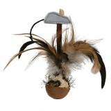 Trixie Мяч с перьями и мышкой, 15 см