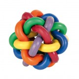 Trixie Мяч из перепл.цветн.колец 7 см