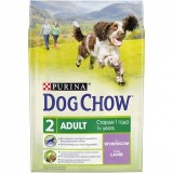 Dog Chow сухой корм для взрослых собак с ягненком (2,5 кг)