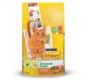 Сухой корм для кошек - Friskies Indoor. С курицей и овощами и добавками садовой травы 1,5 кг