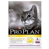 Сухой корм для кошек - Pro Plan (Проплан) Light. С индейкой, корм для кошек с избыточным весом 1,5 кг