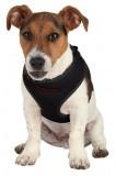 Шлея-жилетка с поводком для щенков и мелких собак (26-34 см / 10 мм, 2 м) черная