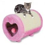 Trixie драпак-ролик с сердцем для кошки, 27х39 см, розовый