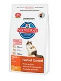 Hill's Сухой корм для взрослых кошек Science Plan Adult Hairball Control против формирования комков шерсти в ЖКТ (1.5 кг)