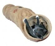 Тоннель для кошек (25х125 см) бежевый