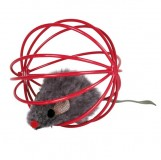 Trixie мышь(плюш)в мяче-клетке,6см(24шт)