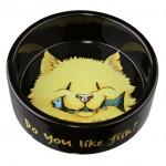 "Trixie миска для кошек ""Do you like Fish"" (керамика) 300 мл Ø 12 см"