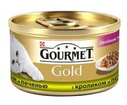 Gourmet Gold З кролем ,печінкою. Шмат у підливі 85 г