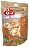 8in1 Кость д/чистки зубов с мясом Delights (30 шт), XS