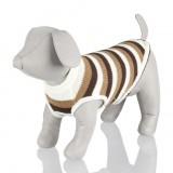 """пуловер """"Hamilton"""" 30 см, белый/бежевый/коричневый (полоска)"""