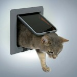 "Trixie Дверца для кошек ""Luxe"" (серая, двусторонняя, врезная)"
