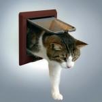 """Trixie дверца для кошек """"Luxe"""" коричн"""