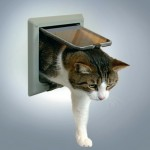 "Trixie дверца для кошек ""Luxe"" серая"