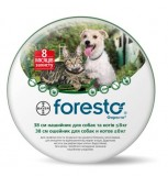 Bayer Foresto ошейник от блох и клещей для кошек и собак мелких пород (38 см)