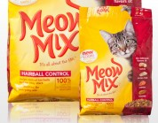 Сухой корм для кошек - Meow Mix Hairball 0,4кг