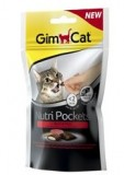 Gimpet Nutri Pockets д/кошек Говядина + Солод 60г