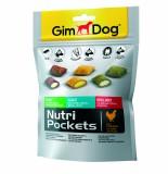 Gimpet подушечки для собак Nutri Pockets Микс (150 г) с глюкозамином, биотином, минералами  и витаминами группы В